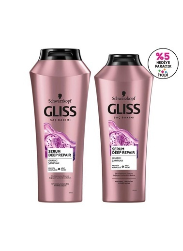Gliss Serum Deep Repair Onarıcı şampuan Seti (şampuan 500 Ml + şampuan 360 Ml) Renksiz